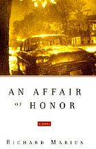 An affair of honor : a novel