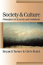Society and culture : principles of scarcity and solidarity