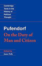 De officio hominis et civis juxta legem naturalem libri duoOn the duty of man and citizen according to natural law