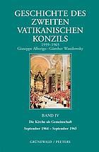 Geschichte des Zweiten Vatikanischen Konzils (1959-1965)
