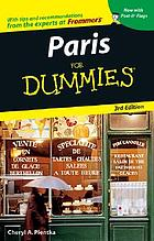Paris for dummies Paris For Dummies, 3rd Edition