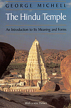 The Hindu temple : an introduction to its meaning and forms