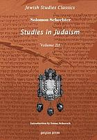 Studies in Judaism. Third series