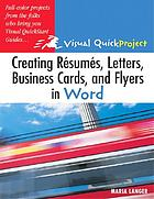 Creating résumés, letters, business cards, and flyers in Word