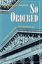 So ordered : making partner the hard way