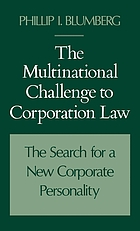The multinational challenge to corporation law : the search for a new corporate personality
