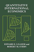 Quantitative international economics
