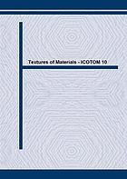 Proceedings of the 10th International Conference on Textures of Materials : ICOTOM-10 : Clausthal, Germany, 20-24 September 1993