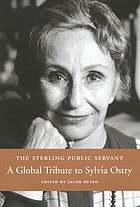 The sterling public servant a global tribute to Sylvia Ostry