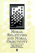 Moral relativism and moral objectivity