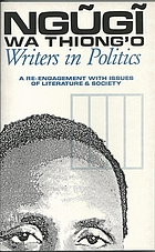 Writers in politics : a re-engagement with issues of literature and society