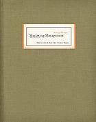 Marketing management : text and cases