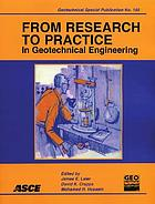 From research to practice in geotechnical engineering