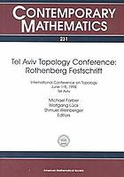 Tel Aviv Topology Conference, Rothenberg festschrift : International Conference on Topology, June 1-5, 1998, Tel Aviv