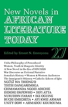 New novels in African literature today : a review