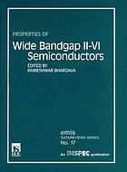 Properties of wide bandgap II-VI semiconductors