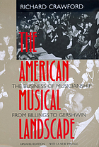 The American musical landscape : the business of muscianship from Billings to Gershwin