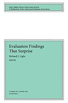 Evaluation findings that surprise