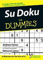 Su doku for dummiesSudoku for dummies