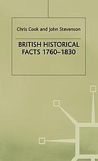 British historical facts, 1760-1830