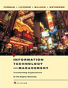 Information technology for management : transforming organizations in the digital economy