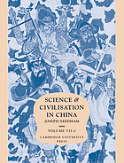 General conclusions and reflectionsScience and civilisation in ChinaScience and civilisation in ChinaScience and civilisation in China[The social background]Science and civilisation in ChinaScience and civilisation in China