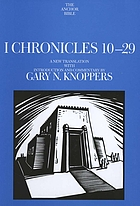 I Chronicles, 10-29 : a new translation with introduction and commentary