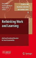 Rethinking work and learning : adult and vocational education for social sustainability