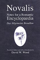 Notes for a romantic encyclopaedia Das Allgemeine Brouillon