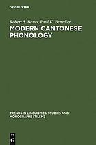 Modern Cantonese phonology
