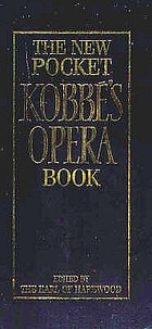 The new pocket Kobbé's opera book
