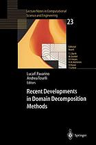 Recent developments in domain decomposition methods