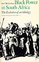 Black power in South Africa : the evolution of an ideology