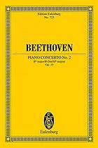 Concerto no. 2, B♭ major : for pianoforte and orchestra, op. 19