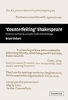 Counterfeiting Shakespeare evidence, authorship, and John Ford's Funerall elegye