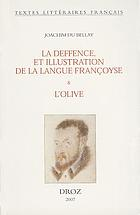 La deffence, et illustration de la langue françoyse (1549)