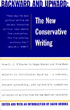 Backward and upward : the new conservative writing