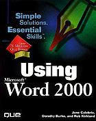 Using Microsoft Word 2000