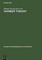 Number theoryNumber theory : diophantine, computational, and algebraic aspects : proceedings of the international conference held in Eger, Hungary, July 29-August 2, 1996
