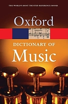 The concise Oxford dictionary of music : based on the original publication by Percy Scholes