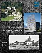 Architecture in Austria in the 20th & 21st centuries