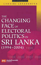 The changing face of electoral politics in Sri Lanka, 1994-2004