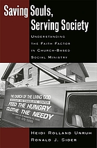 Saving souls, serving society : understanding the faith factor in church-based social ministry