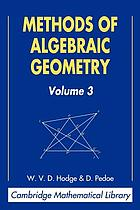 Methods of algebraic geometry