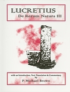 Lucretius: On the nature of things ; and, The Discourses of Epictetus ; and, The Meditations of Marcus Aurelius