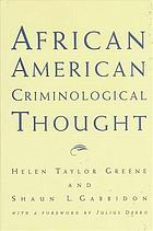 African American criminological thought