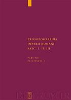 Prosopographia Imperii Romani saec. I. II. III.
