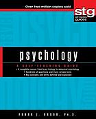 Psychology : a self-teaching guide