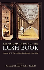 The Irish book in English, 1550-1800