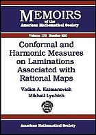 Conformal and harmonic measures on laminations associated with rational maps